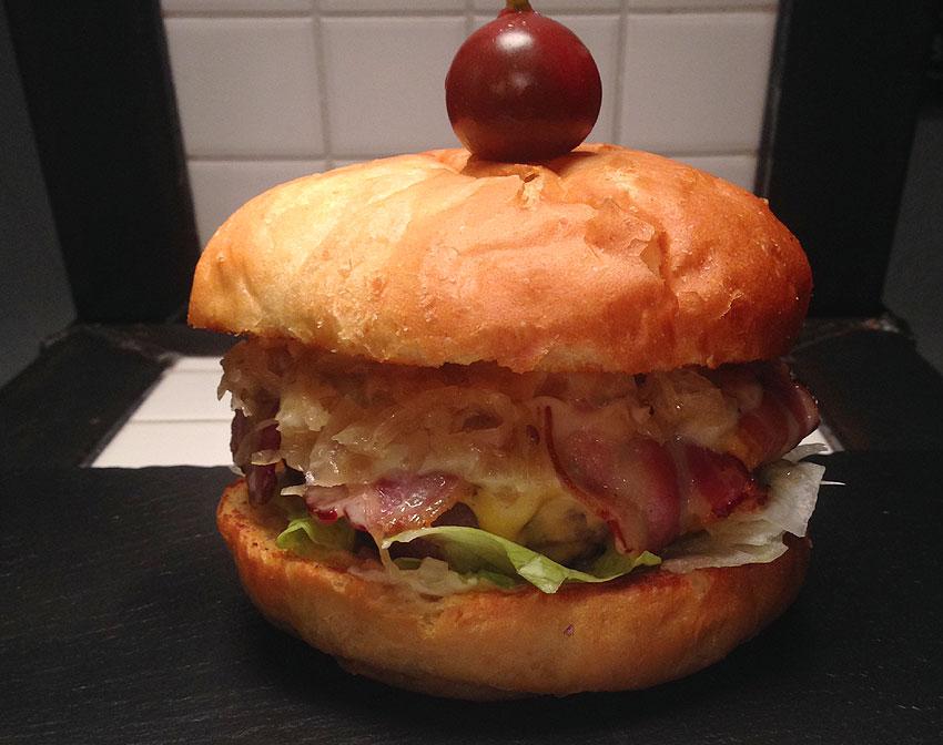 Sauerkraut Double Cheese Burger